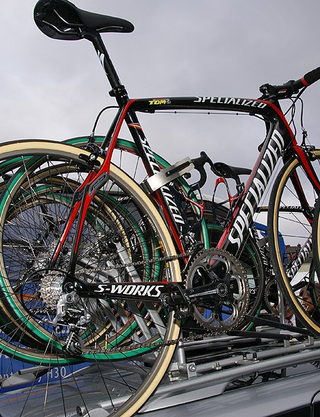 Boonen had several bikes at his disposal  but relied upon the softer ride of the Roubaix