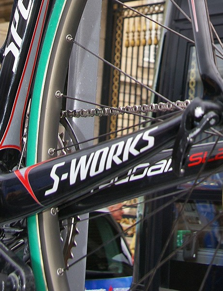 The badging suggests that this will be introduced as the 2009 S-Works Roubaix SL2.