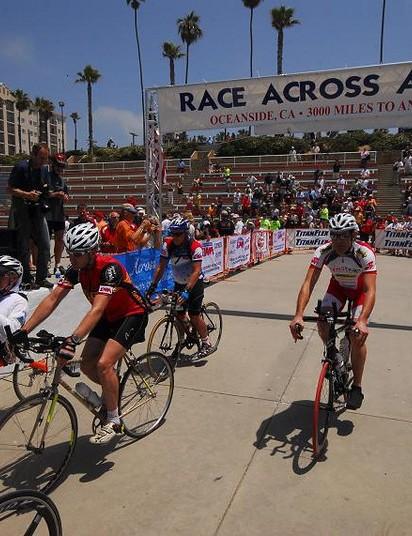 Riders get underway in Oceanside, CA.