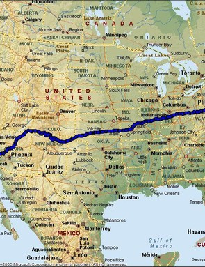 The 2008 RAAM route.