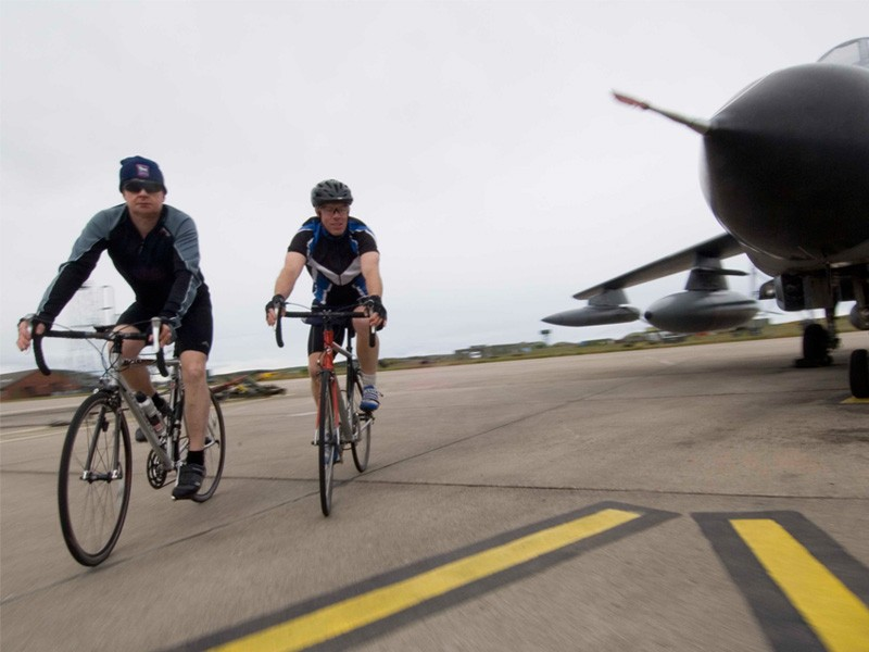 Just an average day's training at RAF Lossiemouth...