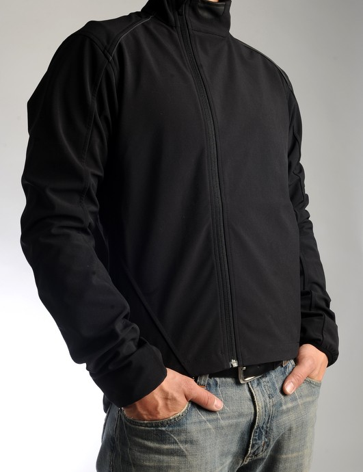 The Rapha Classic Softshell jacket	is almost too nice to wear on the bike!