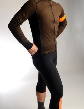 Rapha offers a 'cross-specific kitcomplete with season-specific colors and a padded right shoulder.