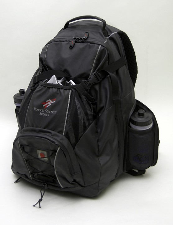 The Rocket Science Sports Rocket Bag held all of our cycling needs just fine.