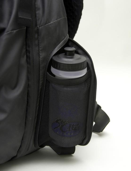 Exterior pockets hold bottles or even shoes.