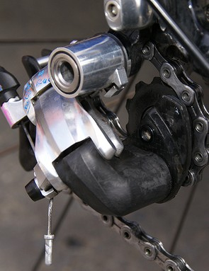 The forward knuckle is also crafted of composite material, presumably to save weight.