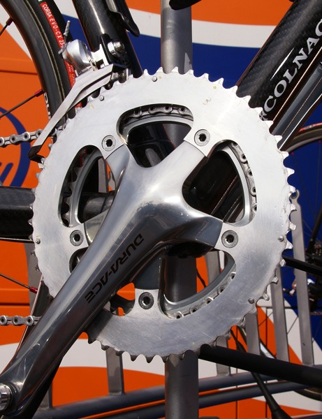 Rabobank's outer chainrings were clearly test mules of some sort…