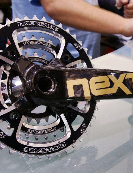 Race Face showed off a prototype of its new Next SL crank, though it's unlikely to hit the market until the end of 2009.