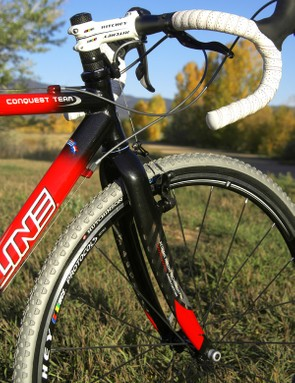 As promised, the new Redline carbon fork is fantastically stout under braking with virtually no chatter