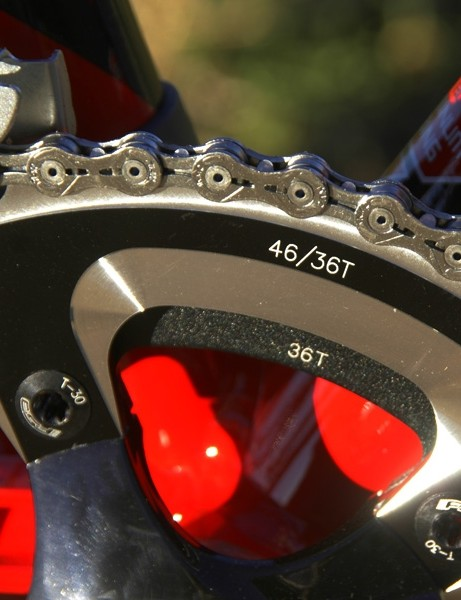 Redline fits the arms with 'cross-appropriate 36/46T rings