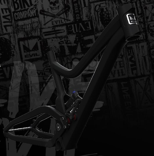 Evil's new downhill frame, the Revolt.