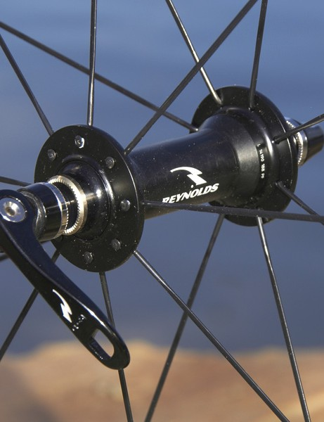 The front hub is radially laced…