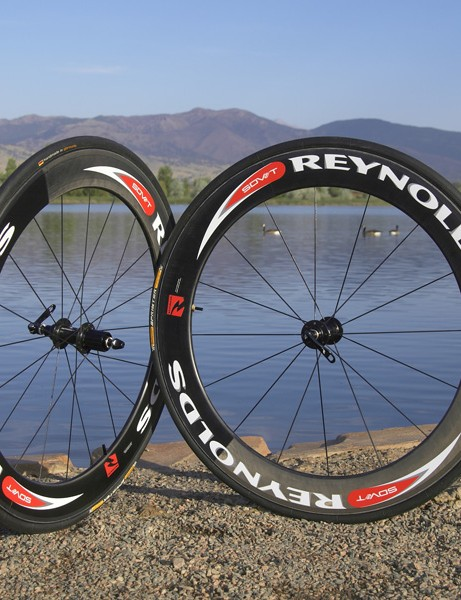 Reynolds' SDV 66 carbon tubulars  slice through the air with their 66mm-deep profile.
