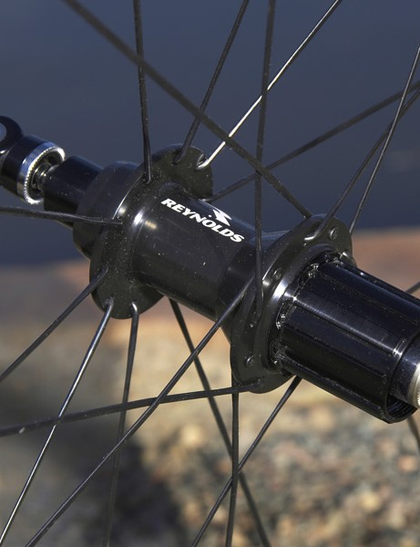The Reynolds-badged hubs are made by DT Swiss and based on the 240s design.
