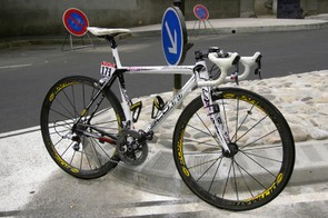 Riccardo Riccò captured a stupendous win on stage 9 with this custom-finished Scott Addict.