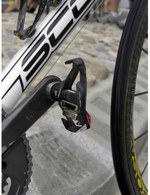 Riccò stomped the peloton today with Time RXS Carbon Ti pedals.