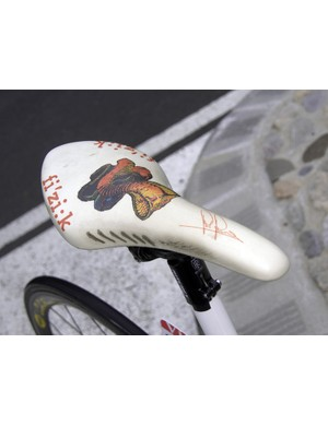 Even though he's only 25 years old, Riccò even has his own custom saddle courtesy of fi'zi:k.