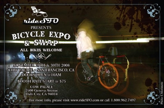 The inaugural San Francisco Bay Area Bicycle Expo and Swap is November 29 and 30.