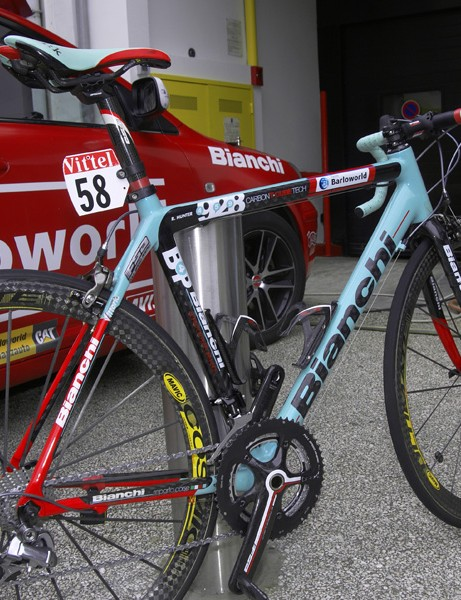 Bianchi's new 928 Carbon T-Cube is supposedly the stiffest frame in the lineup.