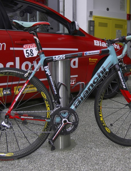 Barloworld sprinter Robbie Hunter's Bianchi 928 Carbon T-Cube
