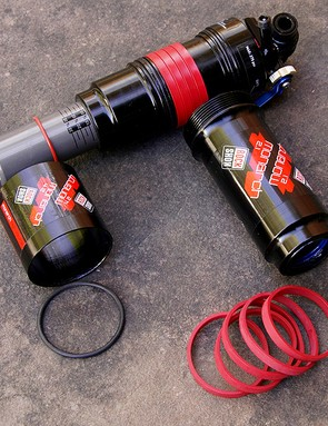 RockShox also offers a high-volume air can option for those who want a more linear stroke. The volume can be fine-tuned without the use of tools