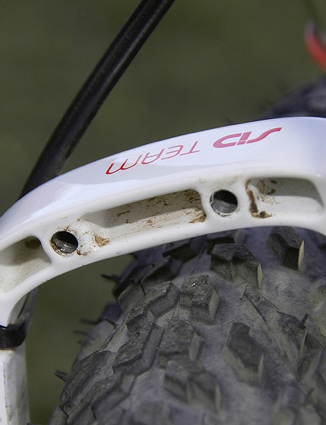 Two threaded holes built into the back of the arch provide a convenient mounting point for a bare bones fender
