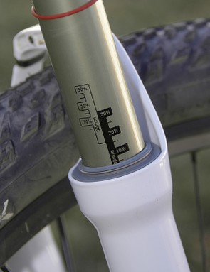 Stanchion diameter has increased from 28mm to 32mm and permanent sag gradients offer a convenient visual aid in tuning