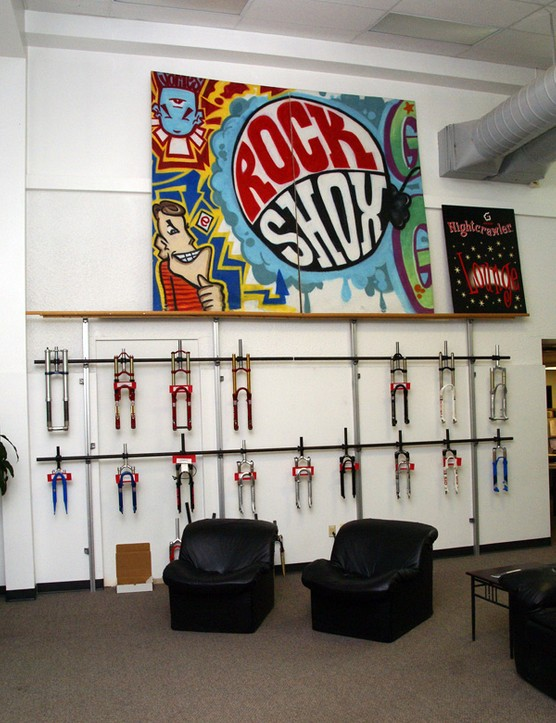 The Colorado Springs centre is also home to RockShox and there's an awful lot of history hanging on this wall.
