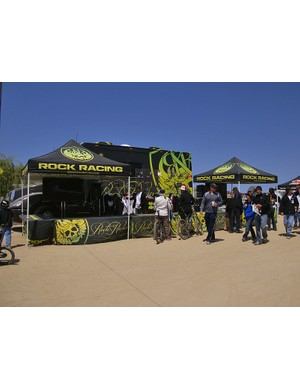 The Rock Racing booth wasn't quite as busy at Sea Otter as it was at earlier season road events