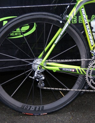Even one of the other Rock Racing riders headed off on Lew Racing wheels...