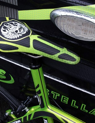 Rock Racing buys its own fi'zi:k saddles and then wraps them with their own covers.