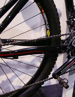 Beefy chain stays contribute to the rigid ride.