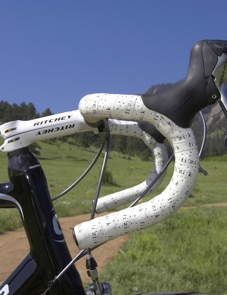 Sutherland prefers a traditional bend for his Ritchey handlebar.