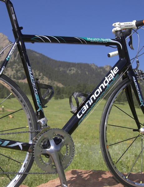 The SuperSix is Cannondale's second full-carbon frame after the Synapse