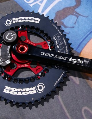 A new Quarq-compatible spider for the Rotor Ágilis crank makes it easy to add a power meter.