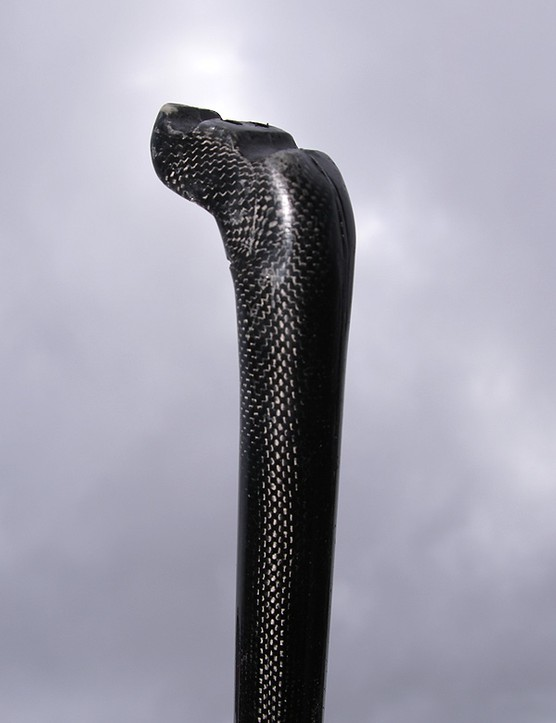 This carbon fibre seatpost is still in progress, but Rotor says it will be amazingly light