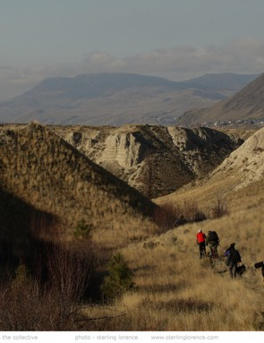 Riders head into big country in a scene from Seasons
