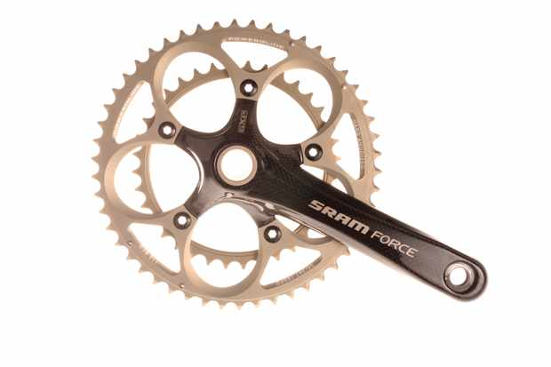 SRAM Force compact carbon crankset.