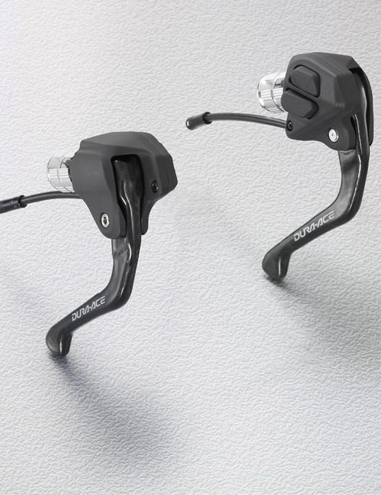 The ST-7971 Dual Control levers include integrated shifters in the hood