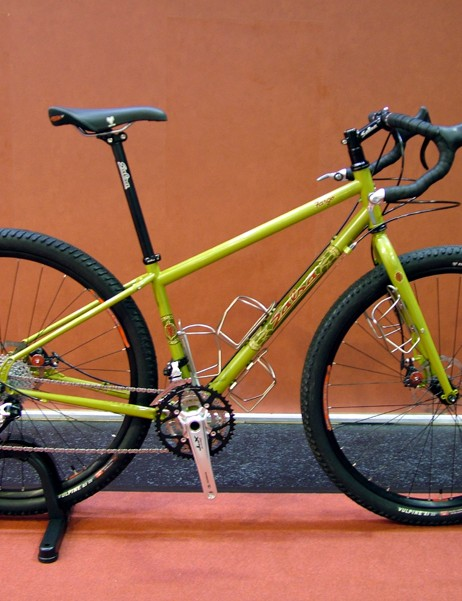 Salsa showed off its new Fargo do-everything MTB tourer that has room for monster 29