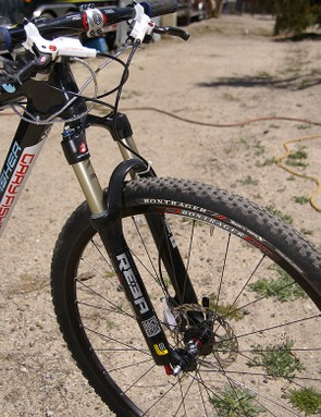 The matching RockShox Reba fork provides a little cush for the front end.