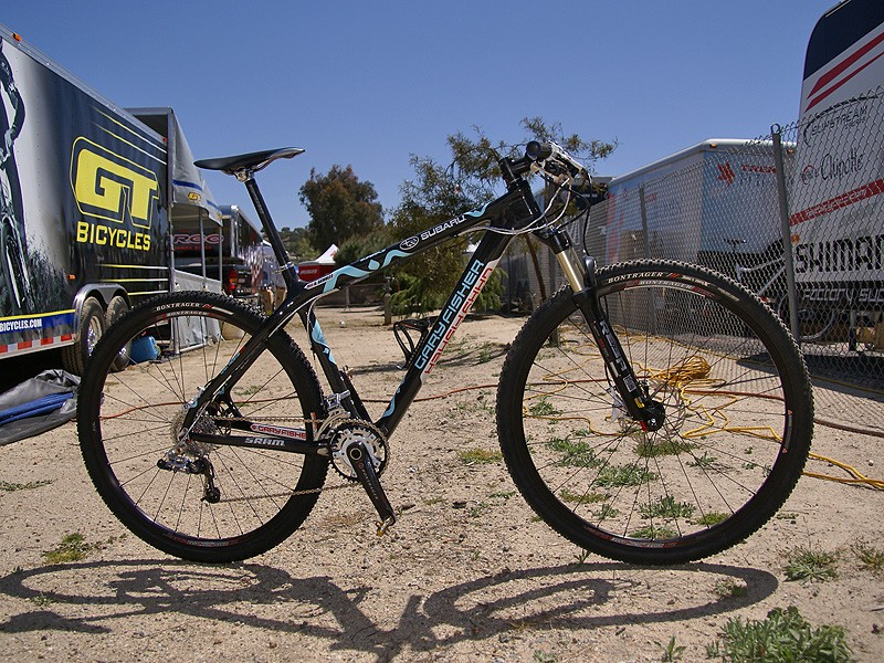 Sam Schultz' stable includes a new carbon fibre Superfly 29er