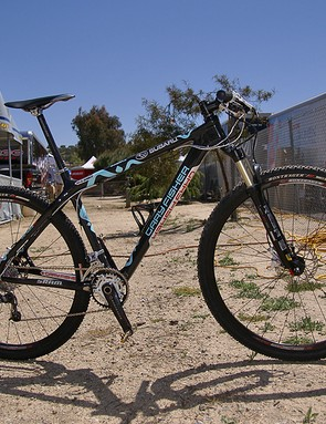 Sam Schultz' stable includes a new carbon fibre Superfly 29er