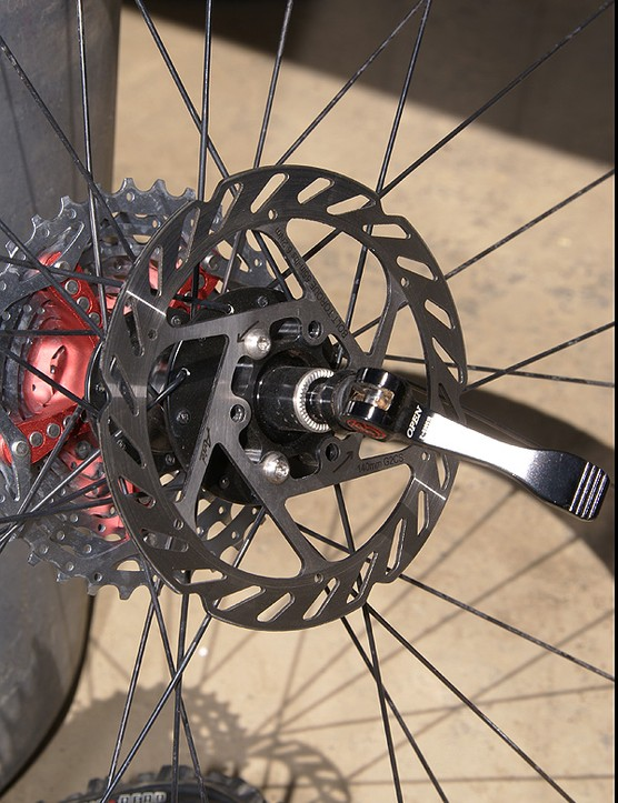 And yes, Schultz only runs three titanium bolts per rotor.