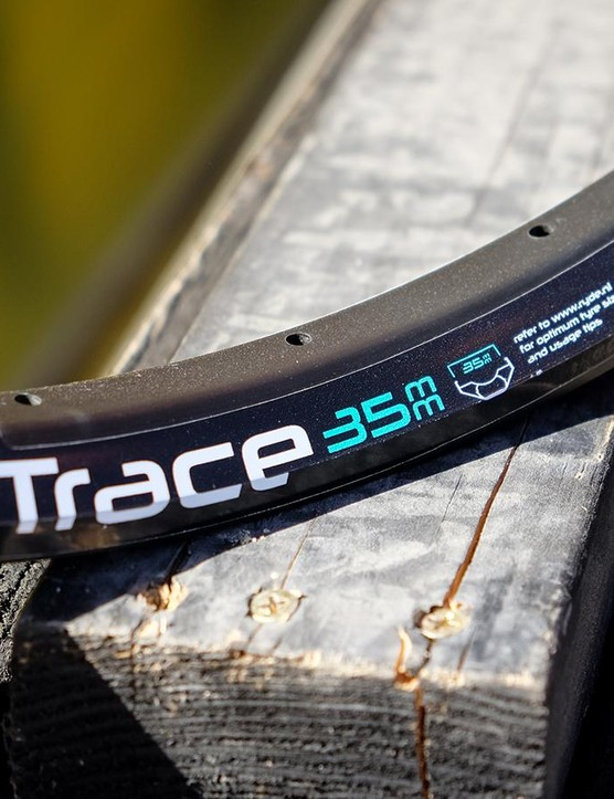 Sapim has a new light and wide rim offering. As the name suggests, the Trace 35 has an internal width of 35mm