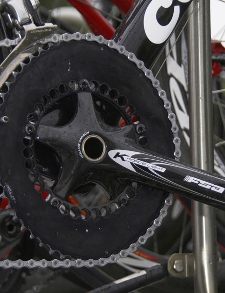 Sastre may have permission from the team and FSA to run his preferred Q-Rings but the logos are still blacked out.