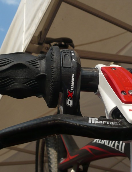 Magura's new Marta SL Mag brakes and SRAM's X.0 twist shifters make for a lightweight combination.