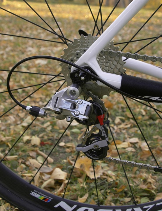 The SRAM Red transmission is ideal for 'cross with its more positive feel