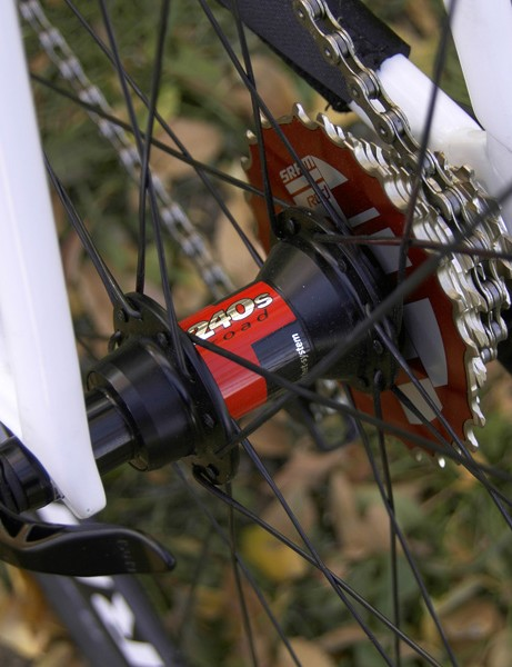 The DT Swiss 240s hubs are light and dependable