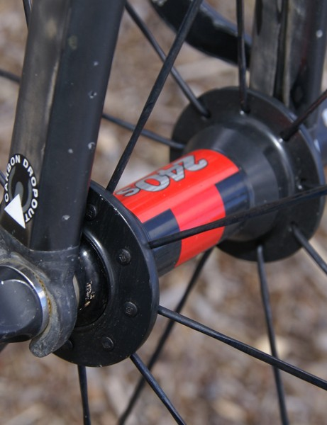 DT Swiss 240s hubs are used front…